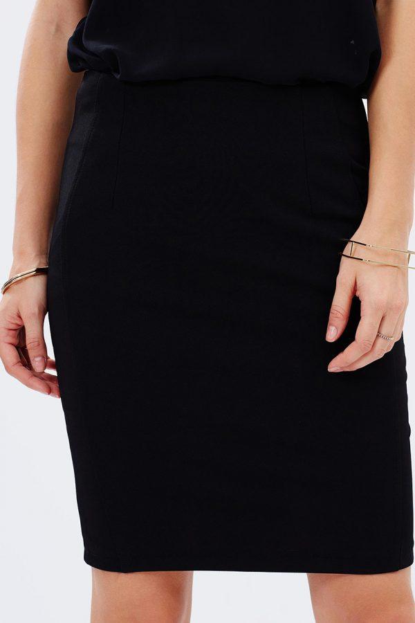 Ali Slim Pencil Skirt (Black)