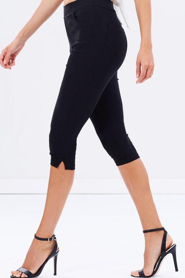 3/4 Cropped Pants (Black)