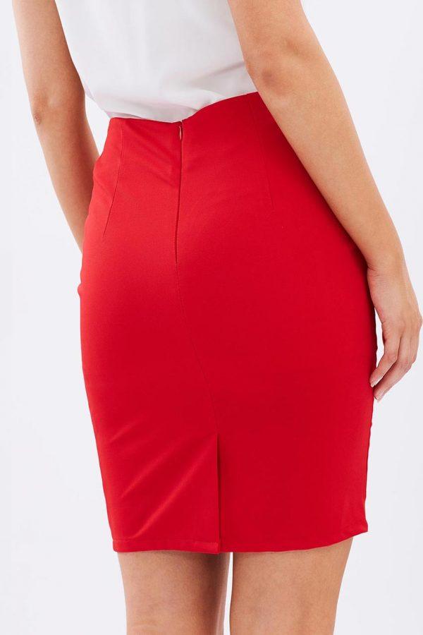 Ali Slim Pencil Skirt (Red)