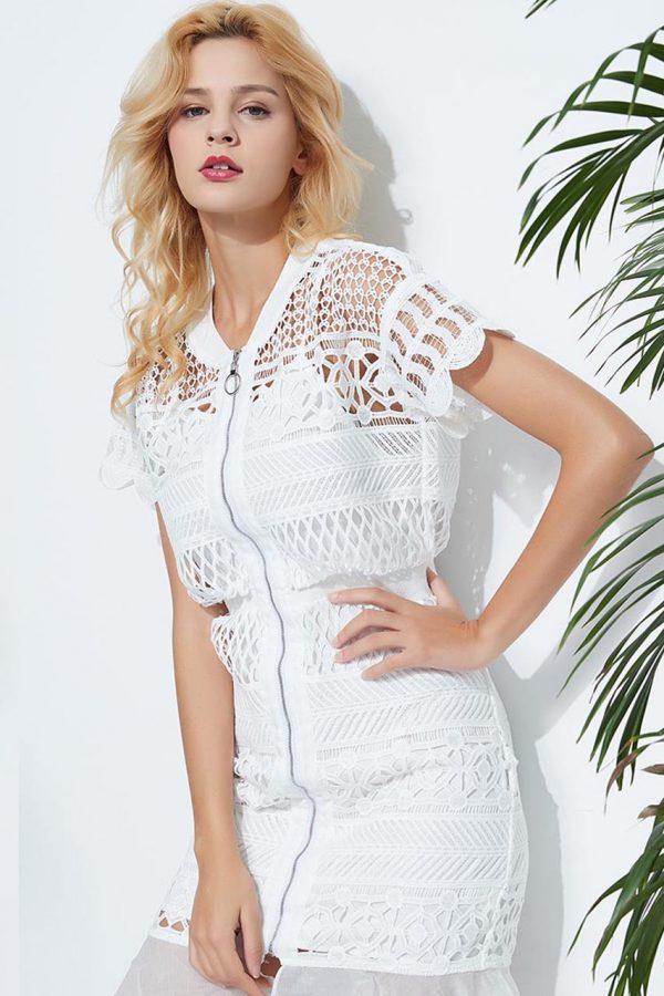 Caroline Lace Dress (White)