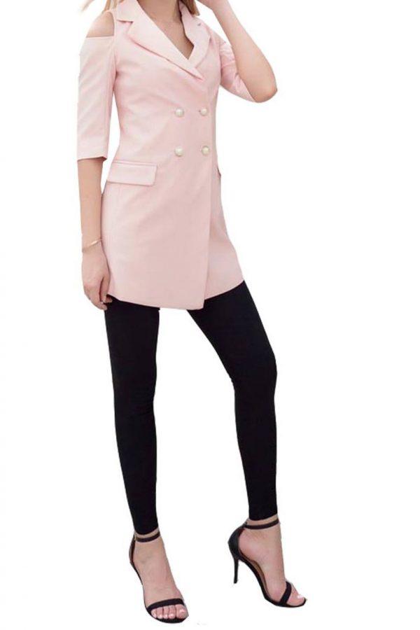 Hazel Cut Out Blazer (Pink)