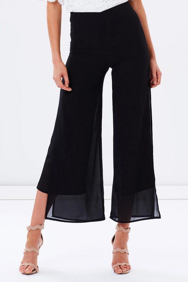 Layla Chiffon Pants (Black)