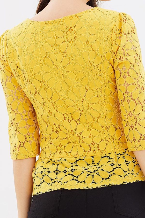 Sarah Lace Top (Yellow)